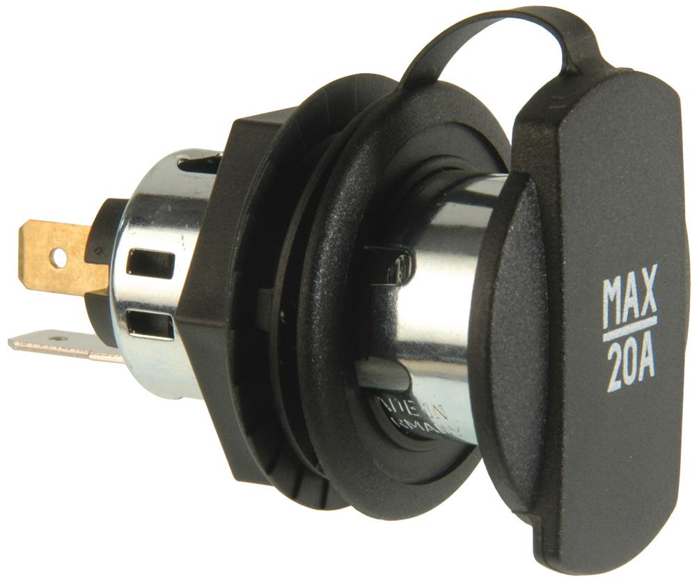 Power sockets with screw thread