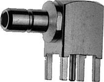 Angle Receptacle, male, for Printed Circuits
