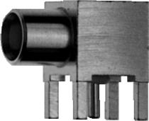 MCX Angle PCB Receptacle, female