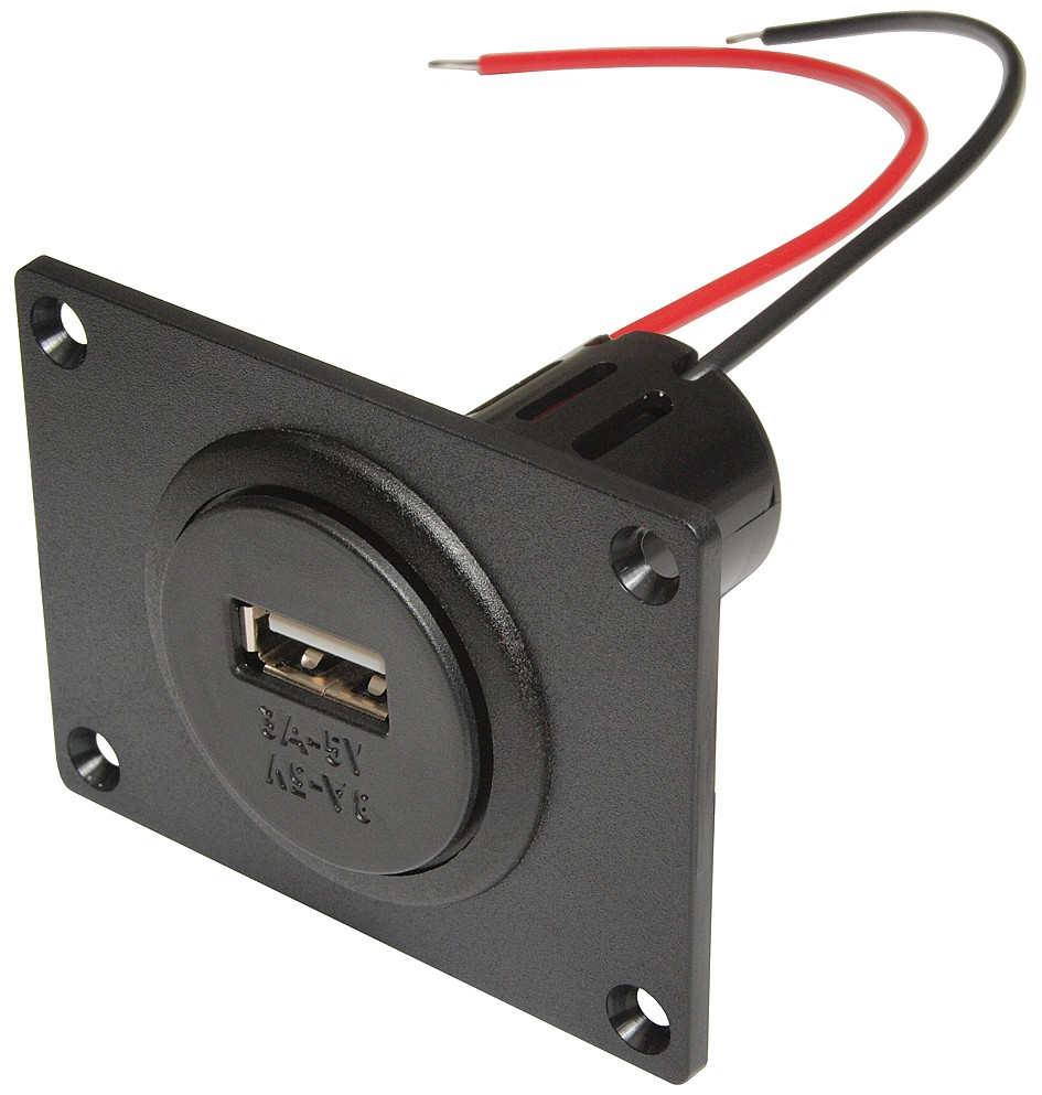 Power USB Built-in Socket with mounting plate, incl. screws