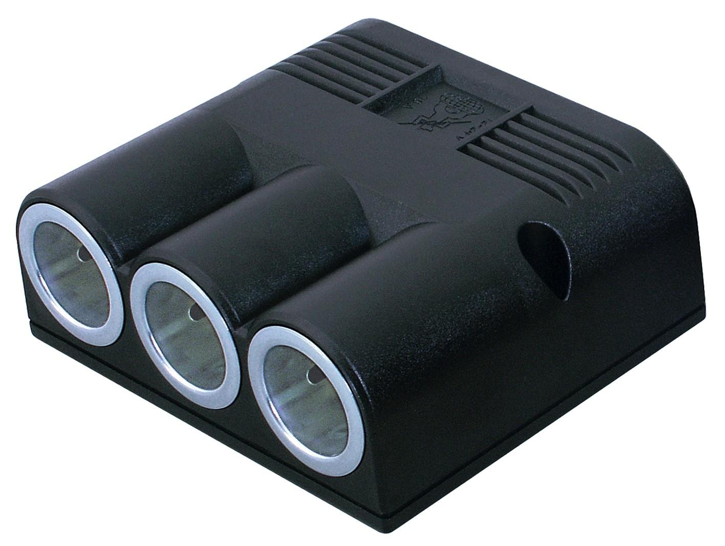 Triple surface mounted socket