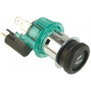 12 V, large knob, clamp sleeve green