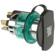 12 V, clamp sleeve green